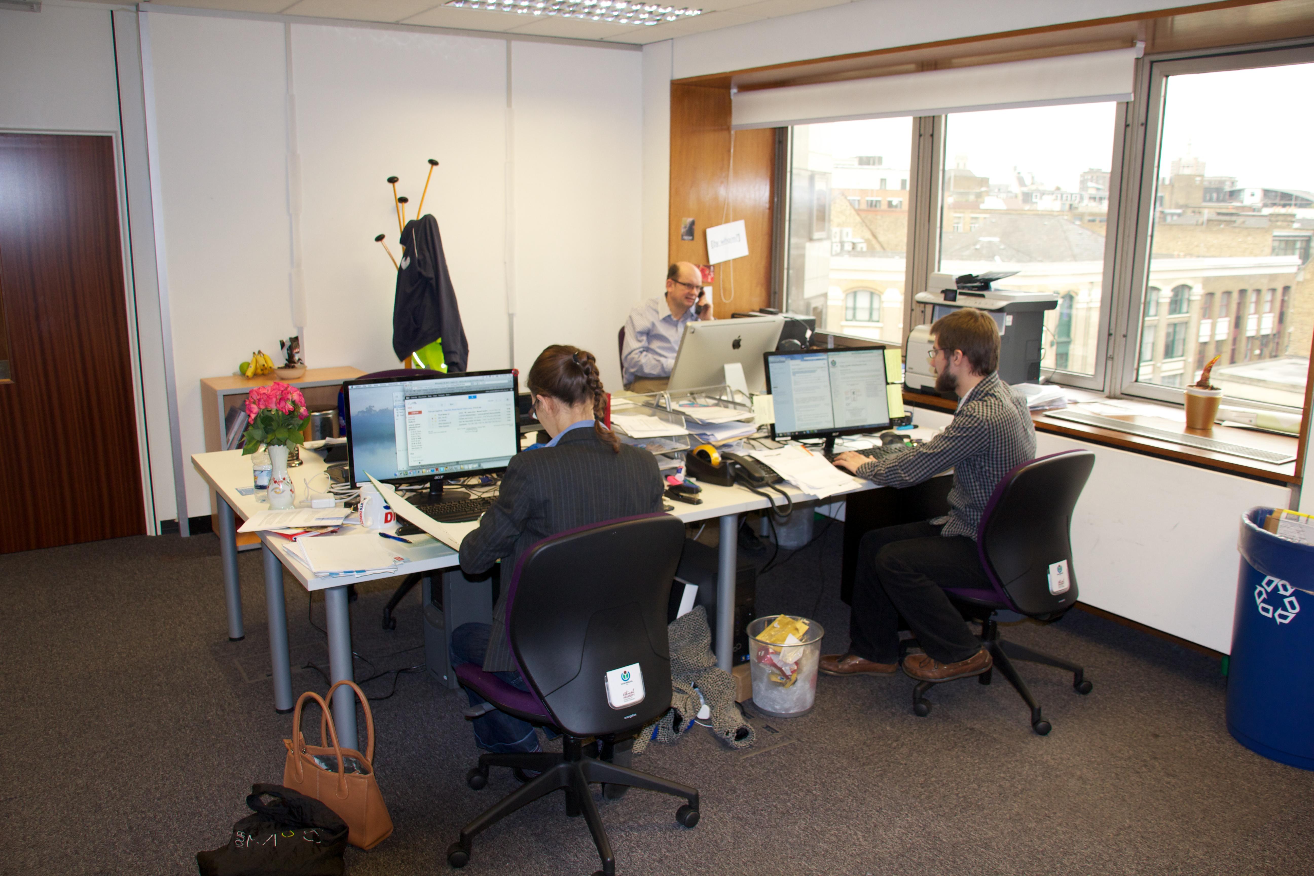 employee working in office